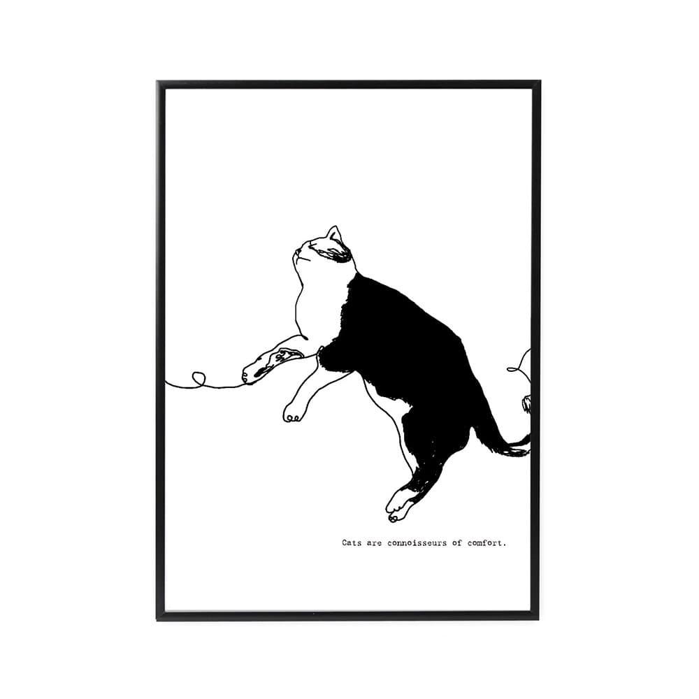 ファルベのインテリアポスター新作線画シリーズcat