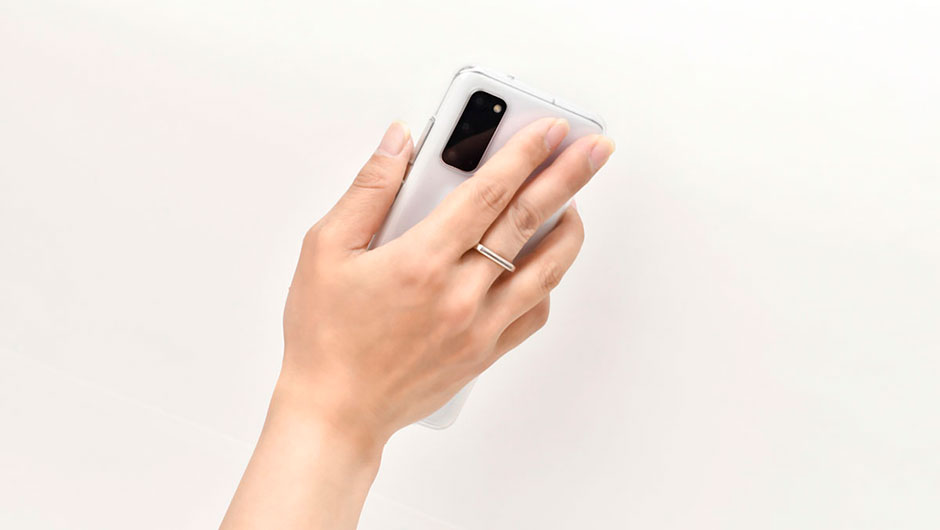スマートフォン使用時に落下するのを防止するモバイルリングホルダー