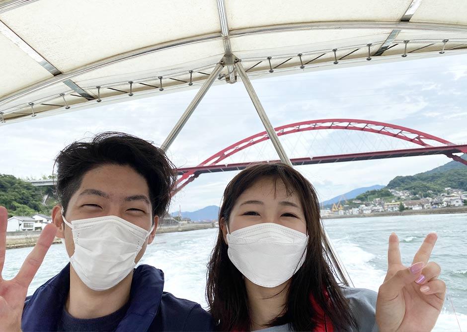 お誕生日プライベートクルーズで音戸大橋をくぐり倉橋島を一周